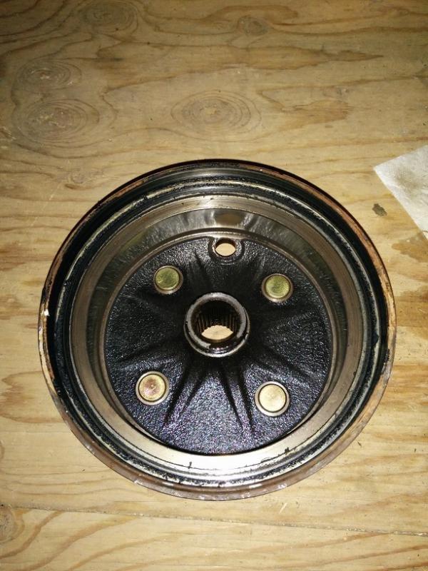 Stuck brake drum? 1994 Big Bear 350 - ATV Forum - All