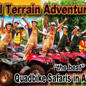 All Terrain Adventures ATV Quadbike safaris beside the Nile at Bujagali Falls in Uganda, East Africa