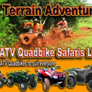 ATV adventure safari for all ages - 4 sizes of quadbikes to suit all ages, all levels, all adventure
